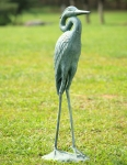 Strutting Egret Garden Sculpture