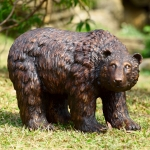 Rust Finish Garden Bear Sculpture