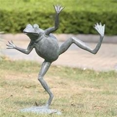 Dancing Frog Garden Fountain Sculpture
