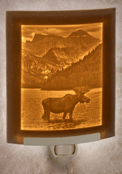 Majestic Moose Night Light