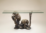 Bronze Bear Entry Way Console Table