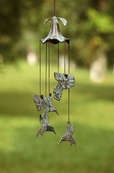 Morning Glory and Humming Birds Wind Chime