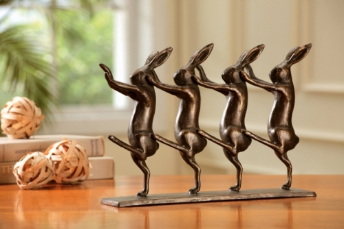 Rabbits on Parade Sculpture