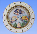 Tropical Fish Porthole Shadow Box #A