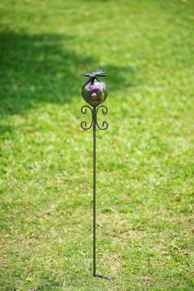 Mosaic Glass Dragonfly Garden Stake