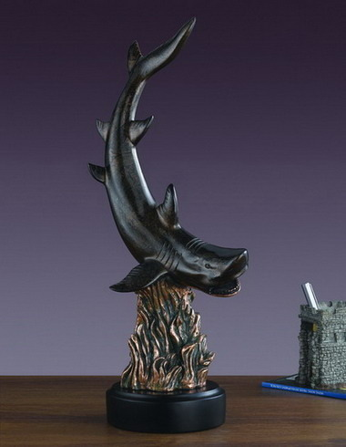 """Hunger Driven"" Shark Sculpture WOW! Over 20 Inches Tall!"