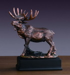 """Lone"" Moose Sculpture"