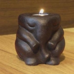 Set of 4 Elephant Accent Candle Holders