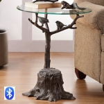 Birds and Branch Table with Bluetooth Speaker