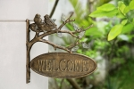 Lovebirds Wall Mounted Welcome Sign