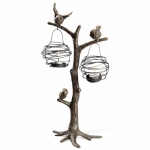 Birds and Nest Tea Light Holder