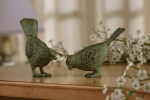 Small Chatty Bird Sculptures - Pair (Verdi)