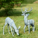 Garden Deer Pair Sculptures