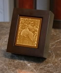 Baby Bunnies Lithopane Shadow Box