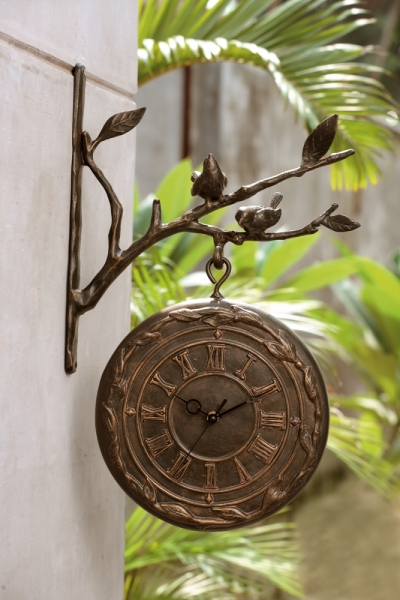 Bird on Branch Clock & Thermometer