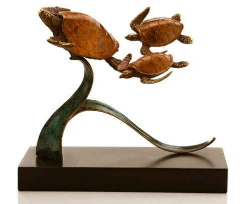 Steady Swimmers Sea Turtles Sculpture