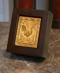 Rooster Lithopane Shadow Box