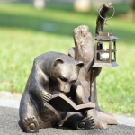 Book Lover Bear Garden Lantern
