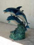 Joyful Dolphin Family Trio Fountain
