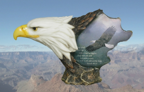 """Face of Freedom"" Eagle Head Sculpture"
