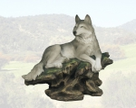 """Forest Idyll"" Wolf Sculpture"