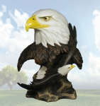 """Destination Free"" Eagle Head Sculpture"