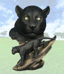 """Elegance"" Panther Head Sculpture"