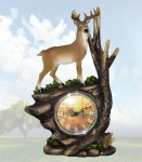 """Time of Majesty"" Deer Clock"