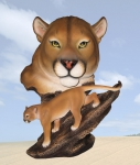 """Predator"" Mountain Lion Sculpture"