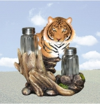 """Exotic Seasons"" Tiger Salt & Pepper Holder"