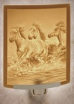 Wild Horses Lithophane Night Light