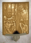 Wolves Lithophane Night Light