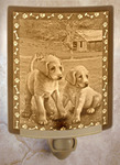 Puppies Lithophane Night Light