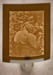 Baby Bunnies Lithophane Night Light