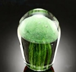 Art Glass Green Jellyfish - Small