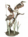 Three Herons on a Tree Sculpture