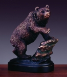 Bear on Rock Sculpture