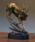 Downhill Elk Sculpture
