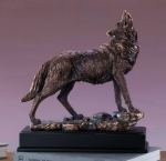 Gazing Wolf Sculpture
