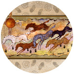 Horse Cave Painting Coasters