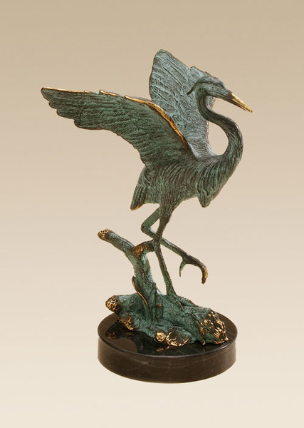 Single Heron Sculpture