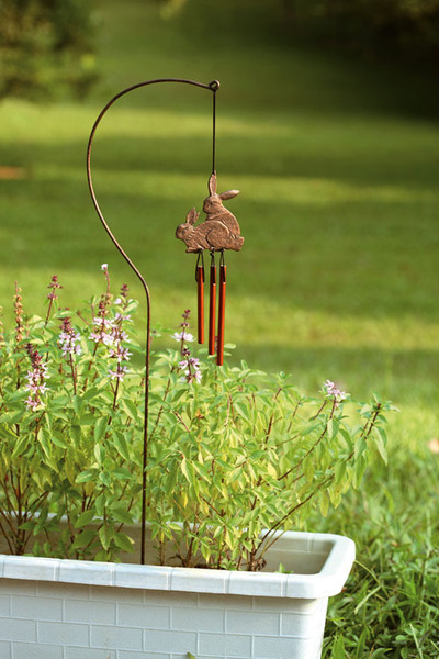 Bunnies Wind Chime for Pots