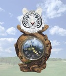White Tiger Head Clock