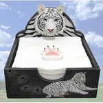 White Tiger Napkin Holder
