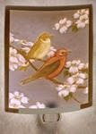 Morning Song Colored Lithophane Night Light