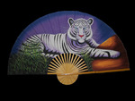 Large Decorative White Tiger Wall Fan
