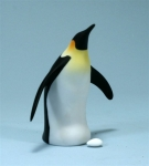 Single Penguin with Egg Sculpture
