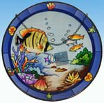 Stained Glass Fish Plaque