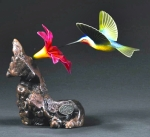 Multicolor Hummingbird Sculpture