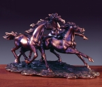 Trio Horses Sculpture
